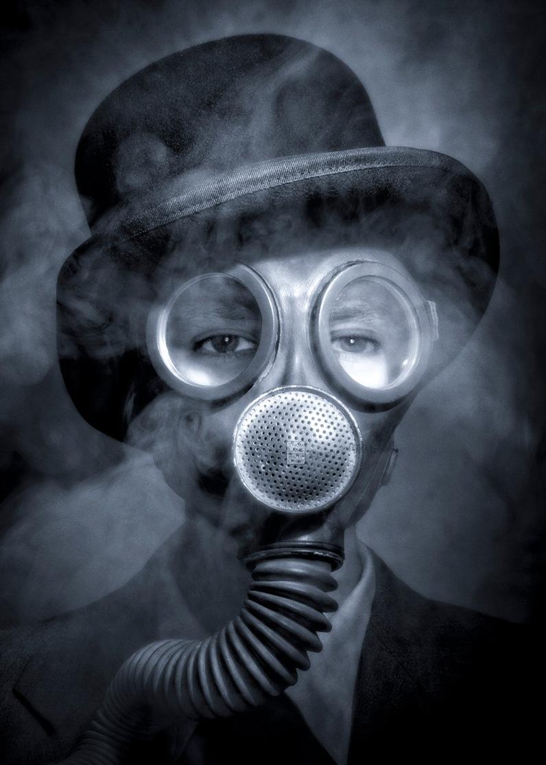 Gas Mask Hat Smoke_BW_BLOG copy