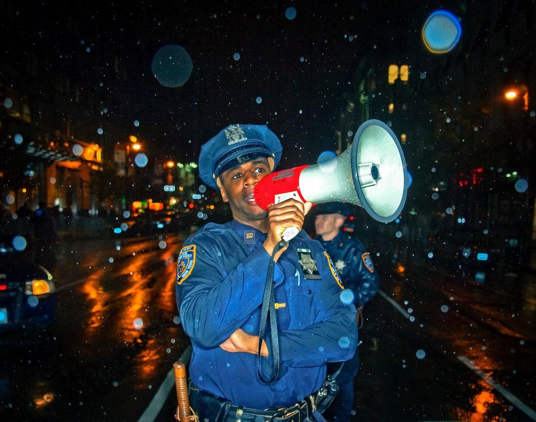 Policeman With Megaphone-BLOG